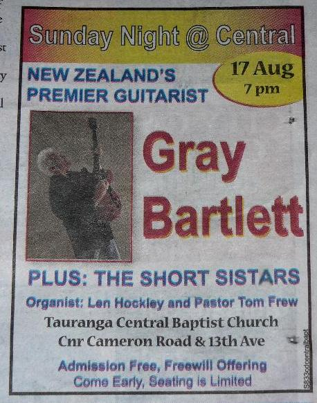 Concert with Gray Bartlett
